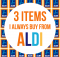 a mum reviews aldi 3 items tips