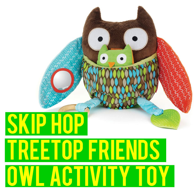 a mum reviews skip hop treetops friends activity owl toy review