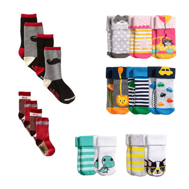 $8 BUY NOW. Trust us: Your baby would love to kick his feet in socks that sport a bright geometric print. Slip these socks on your baby to brighten up an outfit, or tie one together.