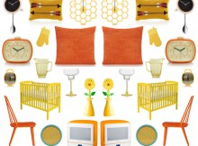 ASDA George Wish List - Retro Orange & Yellow Home Accessories A Mum Reviews