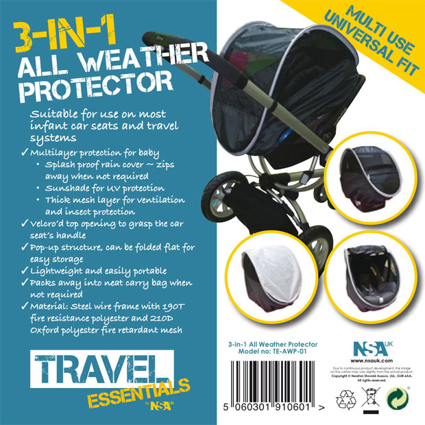 Giveaway: Win an NSAuk 3 in 1 All Weather Protector A Mum Reviews