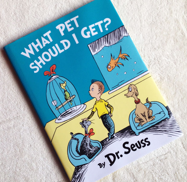Book Review: What Pet Should I Get? By Dr Seuss