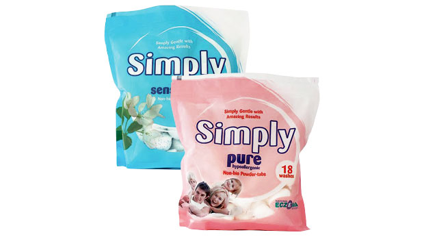 Simply Pure & Sensitive Powder-Tabs Laundry Detergent Review A Mum Reviews