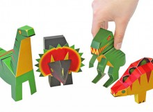 PUKACA Dinosaurs Paper Toys DIY Paper Craft Kit Review A Mum Reviews