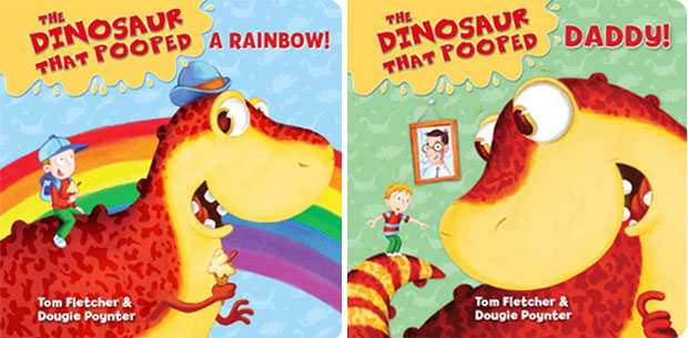 The Dinosaur That Pooped Daddy + A Rainbow Board Books Review A Mum Reviews