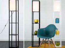 Wooden Shelving Unit Floor Lamp Review - Valuelights A Mum Reviews