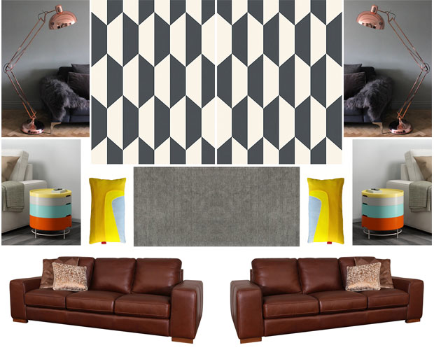 Autumn Interior Inspiration Mood Board A Retro Family Living Room
