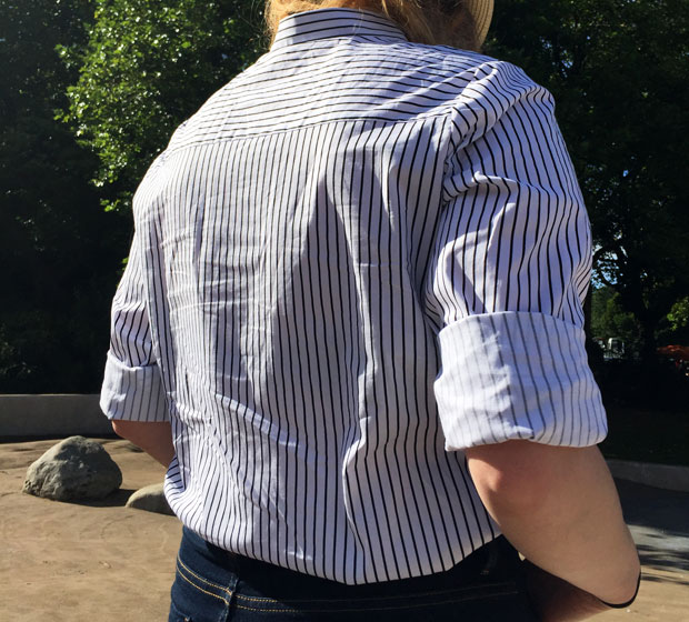 Indian Summer and a Classic Striped Shirt / Outfit of The Day A Mum Reviews