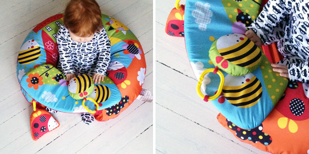Red Kite Sit Me Up Inflatable Ring-Garden Gang Review A Mum Reviews