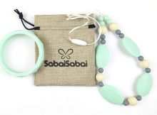 Giveaway Win SabaiSabai Silicone Teething Necklace & Bracelet Set A Mum Reviews