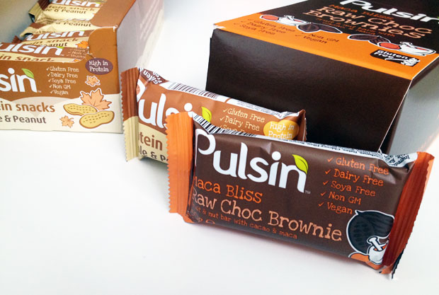 Pulsin vegan protein bars maple peanut and raw choc for Raw food bars uk