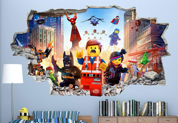 Love Sticker Vinyl Wall Art Review - Lego Movie Bedroom Decal A Mum Reviews
