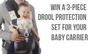 Win 3-Piece Drool Protection for Baby Carriers!
