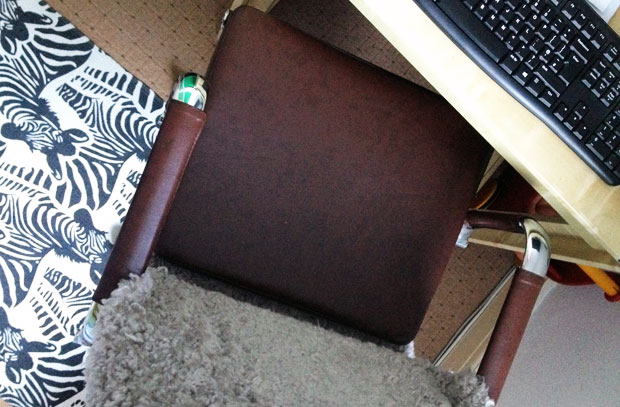 A New Office Chair | The Chester Padded Office Chair Vintage Brown A Mum Reviews