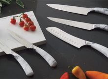 Kitchen Interior Details - Marble Kitchen Knives from Viners A Mum Reviews