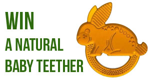 Win a Natural Rubber Teether!
