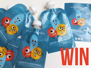 Win Hello Little Monsters Reusable Baby Food Pouches!