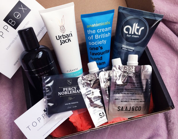 October 2018 TOPPBOX Men's Grooming & Skincare Subscription A Mum Reviews