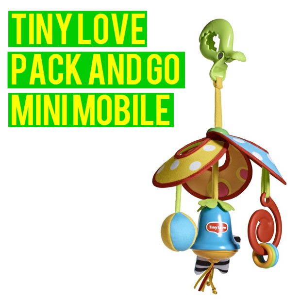 a mum reviews tiny love pack and go mini mobile review