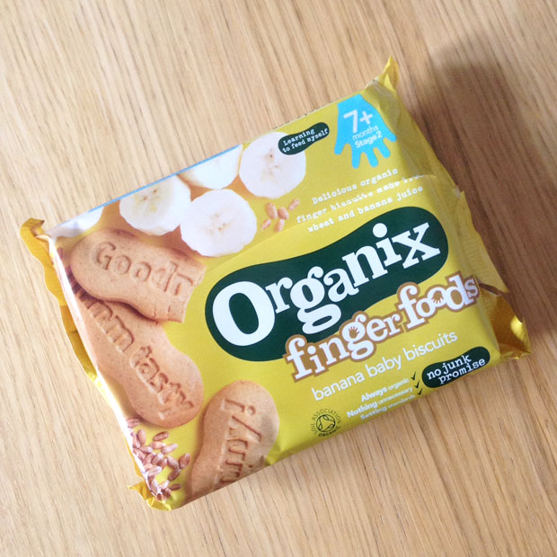 a mum reviews organix finger foods banana baby biscuits review