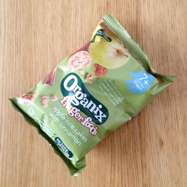 a mum reviews organiz finger foods rice cakes apple cinnamon review