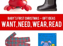 Baby's First Christmas Gift Ideas - Want, Need, Wear, Read