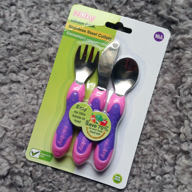 Nûby Garden Fresh Stainless Steel Cutlery Review A Mum Reviews