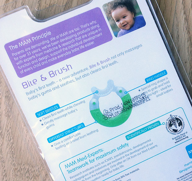 MAM Bite & Brush Teether Review A Mum Reviews