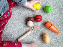ELC Wooden Cut and Play Food Set Review A Mum Reviews