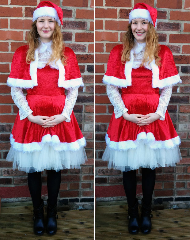 Tickled Pink Fancy Dress Deluxe Miss Santa Costume Review A Mum Reviews