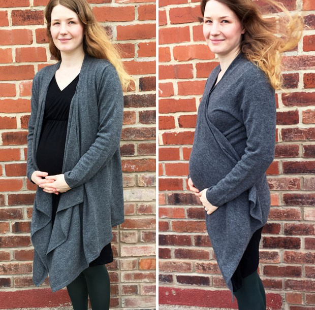 Wool Overs Cashmere & Merino Waterfall Cardigan Review A Mum Reviews