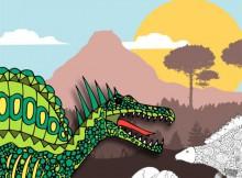 Book Review: Prehistoric Colouring Book A Mum Reviews
