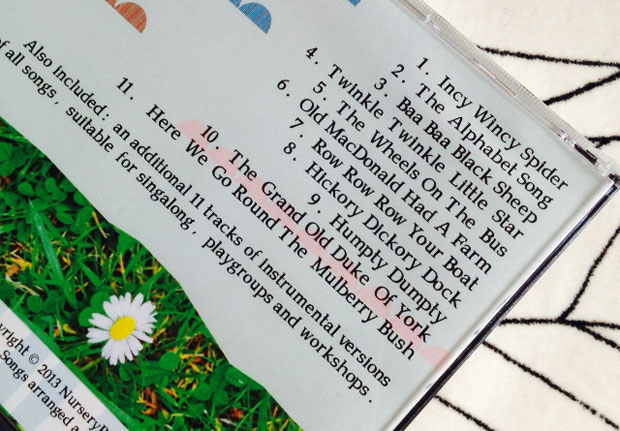 Nursery Rhymes 123 Lullaby Baby CD Review A Mum Reviews