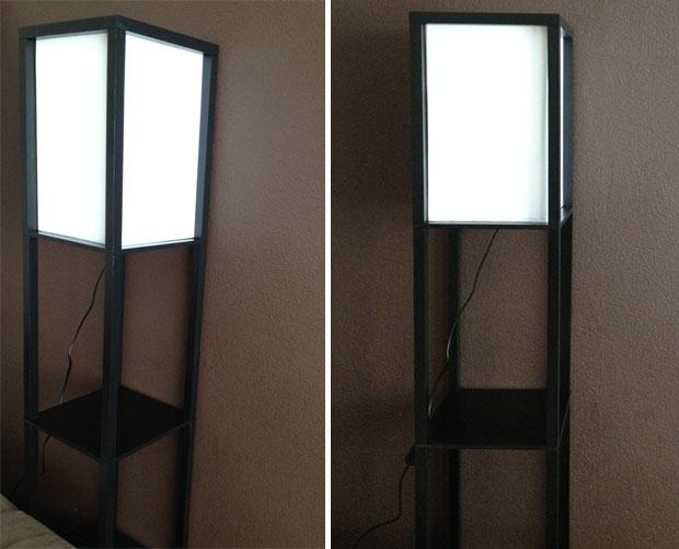 Wooden Shelving Unit Floor Lamp Review - Valuelights A Mum Reviews
