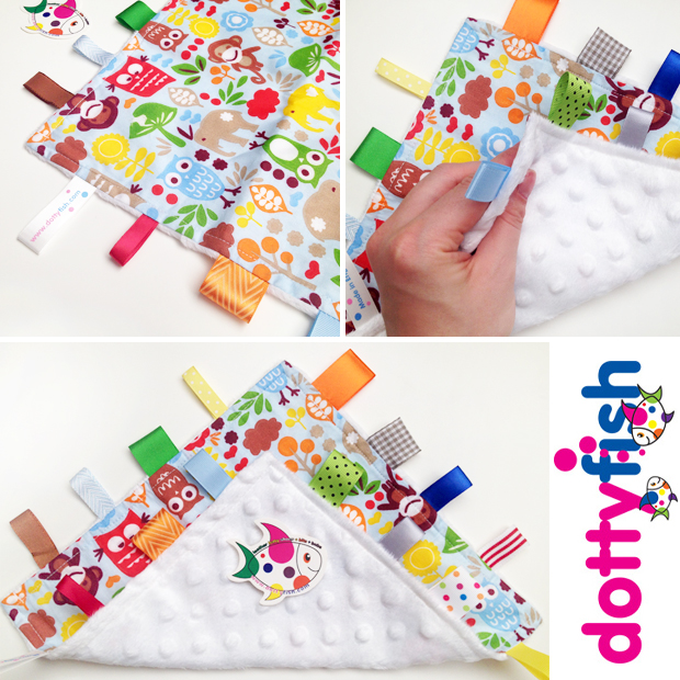 Dotty Fish Tag Blanket Review - Woodland Design A Mum Reviews