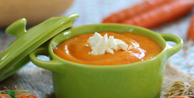 Butternut, Carrot & Goat's Cheese Purée  - Weaning Recipe A Mum Reviews