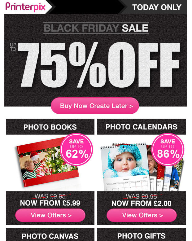 PrinterPix Black Friday Offer - Get Up To 75% Off Today!
