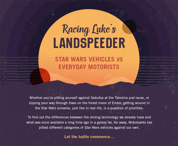 Racing Luke's Landspeeder - Star Wars Vehicles vs Everyday