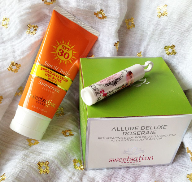 Sweetsation Therapy Body Polish, Lip Balm & Tinted Sunscreen A Mum Reviews