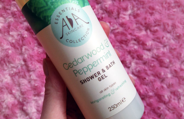 AA Skincare Cedarwood & Peppermint Shower & Bath Gel A Mum Reviews