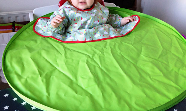 Tidy Tot Bib and Tray Kit Review - Mealtimes Without the Mess A Mum Reviews
