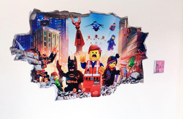 Love Sticker Vinyl Wall Art Review - Lego Movie Bedroom Decal A Mum Reviews
