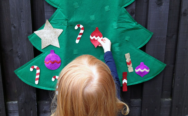 Mushy Moments Felt Christmas Tree + Stick On Decorations Review A Mum Reviews