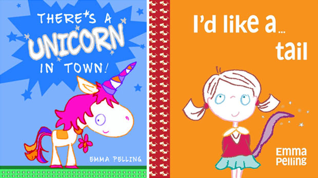 There's A Unicorn in Town & I'd Like A Tail by Emma Pelling A Mum Reviews
