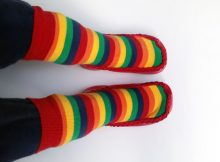 Mocc Ons by Sock Ons Review | Rainbow Stripe Toddler Moccasins A Mum Reviews