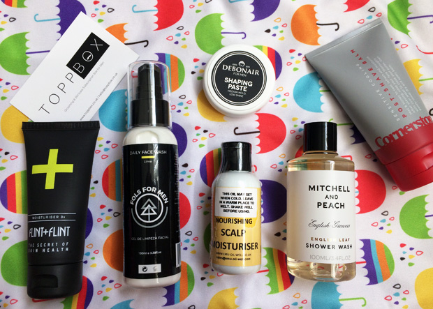 May 2018 TOPPBOX Men's Grooming & Skincare Subscription A Mum Reviews