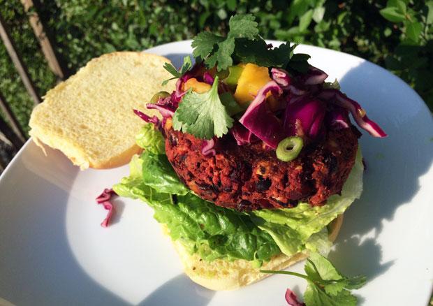 Recipe: Black Bean, Beetroot and Feta Burgers with Mango Slaw A Mum Reviews