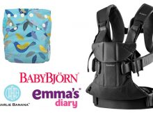 Giveaway with Emma's Diary: Win a BabyBjörn Baby Carrier One B & a Charlie Banana One Size Nappy A Mum Reviews
