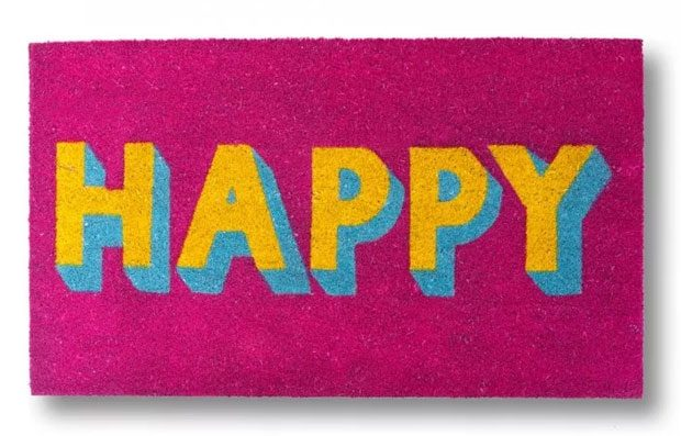 Leave Negative Thoughts at the Door with a Happy Doormat A Mum Reviews