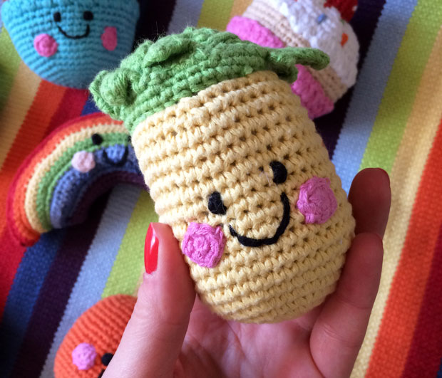 Pebble Friendly Food Crocheted Baby Rattles from BestYears.co.uk A Mum Reviews